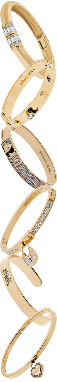 Michael Kors Assorted Golden Bangles