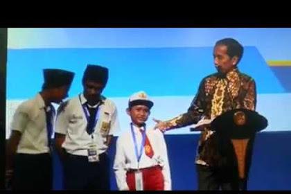 Wah, Bocah SD ini sebut Ikan Kont*l didepan Jokowi