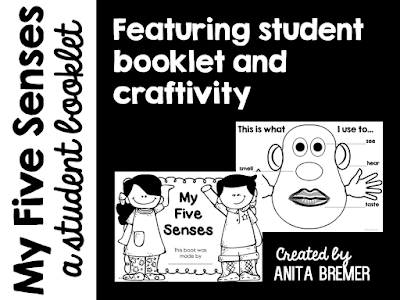 5 Senses Potato Head download and 5 Senses student booklets for Kindergarten