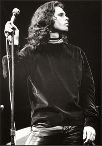 Jim Morrison on stage.