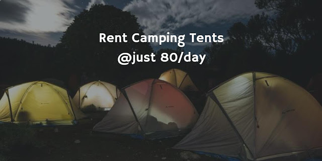 Camping tents for rent in India