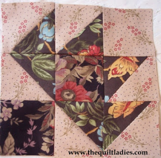 How to make a leave quilt pattern block by The Quilt Ladies
