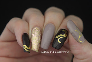 water decal gold nail art