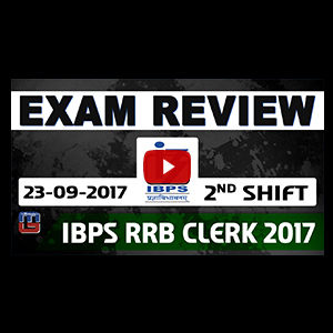 Exam Review With Cut Off | IBPS RRB CLERK 2017 | 23 September-2nd Shift