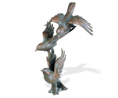 vogels van brons