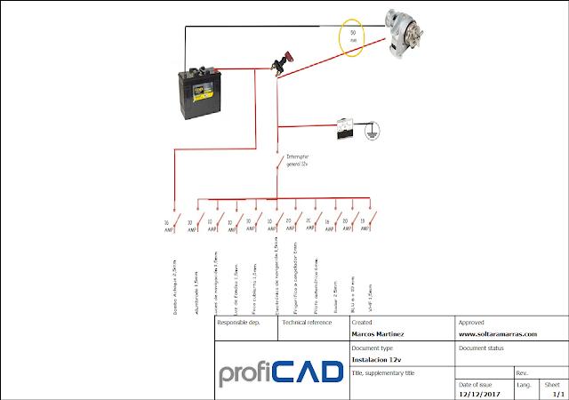 Soltar amarras esquema de cuadro el ctrico 12v y 220v - Mejor sistema de calefaccion electrica ...