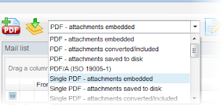 EML Viewer Pro has several EML to PDF export options.