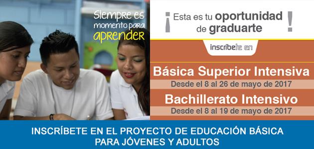 Inscripciones Bachillerato Intensivo 2017 Ministerio de Educación Básica Superior Intensiva
