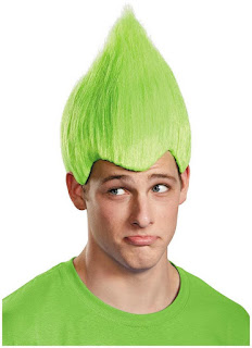 Men's Green Troll Adult Wig - One-Size for Halloween