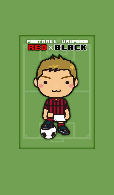 FOOTBALL UNIFORM [RED x BLACK]