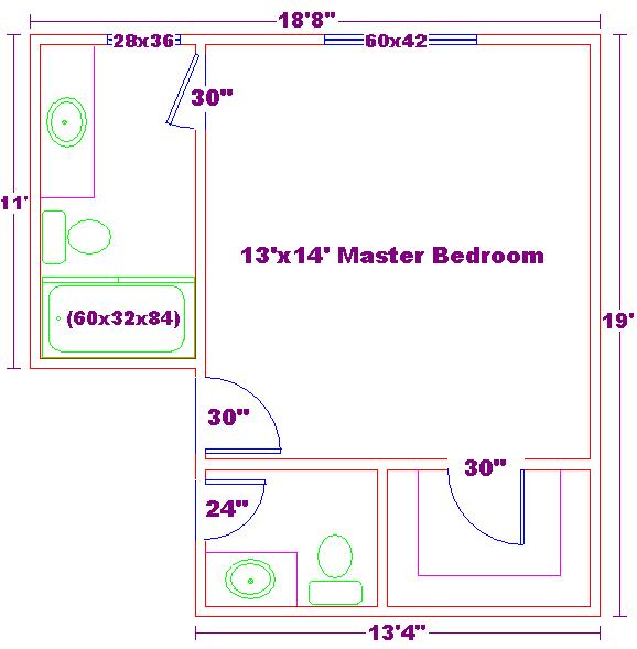 Master bedroom floor plans master bedroom floor plans with for Best master bathroom floor plans