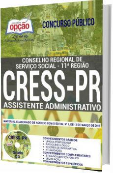 Apostila CRESS-PR 2018 Assistente Administrativo