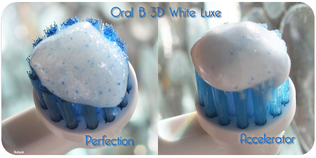 visuel dentifrice Perfection et accelerator de Oral B  White Luxe