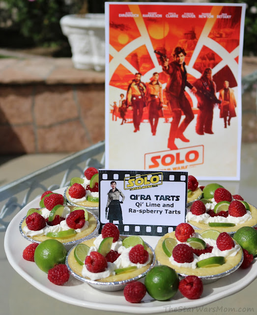 Qi'ra Tarts - Key Lime and Raspberry Tarts - Solo: A Star Wars Story Party Food