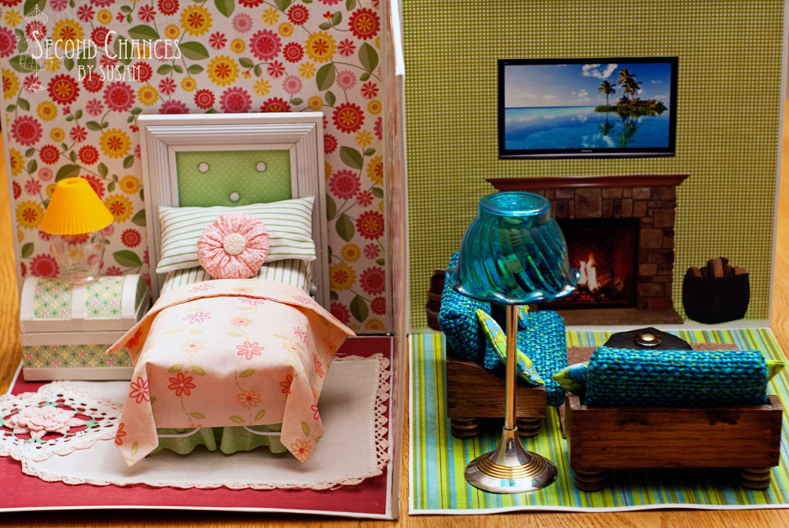 Second chances by susan collapsible dollhouse for Duct tape bedroom ideas