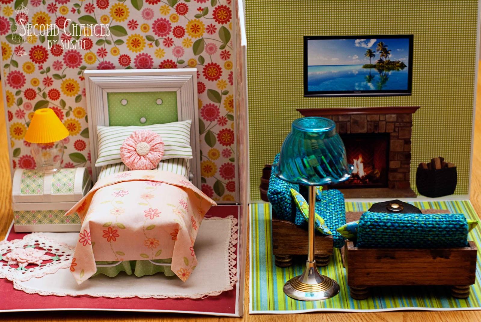 Miniature Dollhouse Bedroom Furniture Build Dollhouse Furniture Collapsible Second Chances Susan Blogger