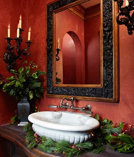 Bathroom Decorating Ideas: Shabby In Love: Bathroom Decorating Ideas For Christmas