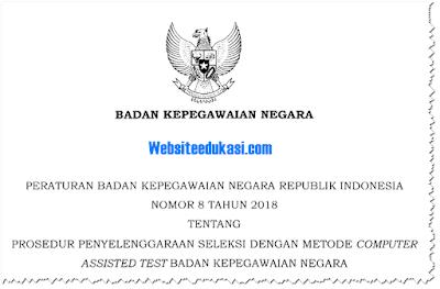 Peraturan BKN Nomor 8 Tahun 2018 prosedur penyelenggaraan seleksi metode CAT
