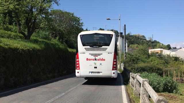 El autobús municipal en Gorostiza