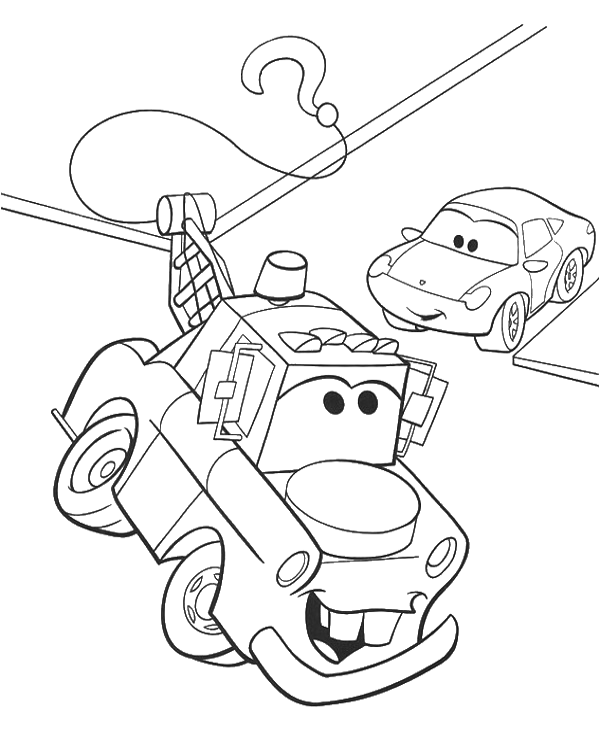 Tranh cho bé tô màu vương quốc xe hơi 22