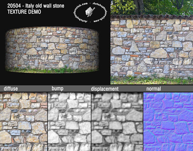 Italy old wall stone texture seamless 20504