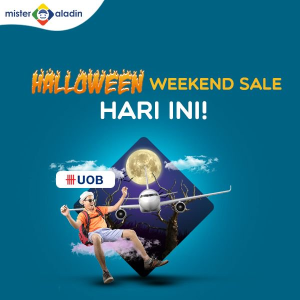 MisterAladin - Promo Hallowen Weekend Sale Diskons.d 20% (HARI INI)
