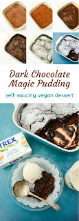 Dark Chocolate Magic Pudding (a self-saucing vegan dessert recipe)