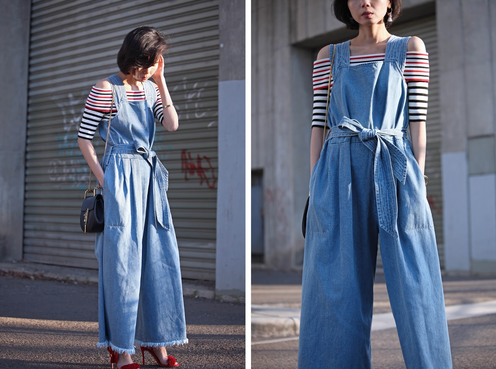 b440e9cbb5a Ok I may have borrowed the name for the title of this post from one of One  Teaspoon jeans but it feels so right though. This denim jumpsuit is loose  and ...