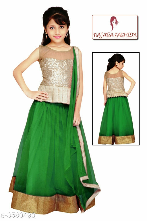 Adorable Kid's Girl's Lehanga Choli Sets