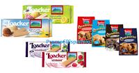 Logo Loacker '''Che Buoni'': coupon Quadratini, Speciality, Wafer per gelato