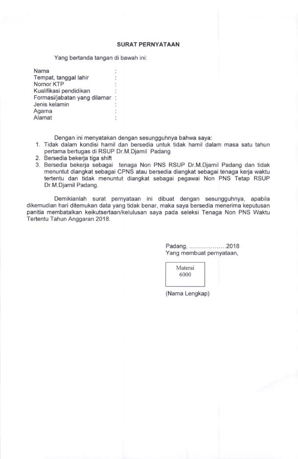 Lowongan Kerja RSUP Dr.M.Djamil Padang Tahun 2018