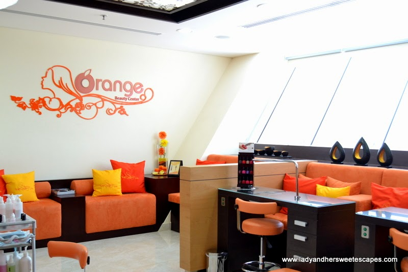 Orange Beauty Center lounge and nail care areas