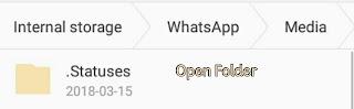 Open Statuses Folder