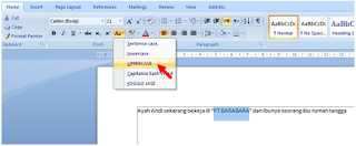 Cara Merubah Huruf Kecil Menjadi Huruf Besar/Kapital di Microsoft Word