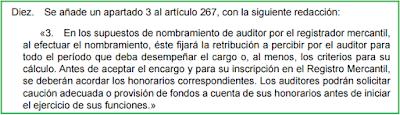 Ley 22/2015, de Auditoría de Cuentas (Disposición Final 4ª), modificación artículo 267 Ley de Sociedades de Capital