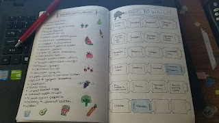 Bullet Journal - Healthy Snacks and Movies to Watch - Katrina Roets