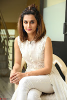 Taapsee Pannu in cream Sleeveless Kurti and Leggings at interview about Anando hma ~  Exclusive Celebrities Galleries 011.JPG