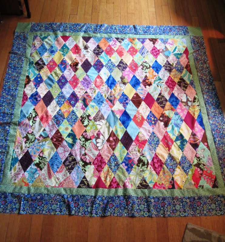 Quilt It Dotty.Jean S Quilting Page Mini Diamond Quilt Bordered Happy H