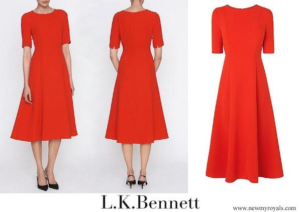 Kate Middleton wore her L.K. Bennett Cayla dress