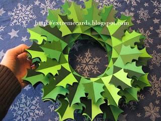holly wreath sliceform torus