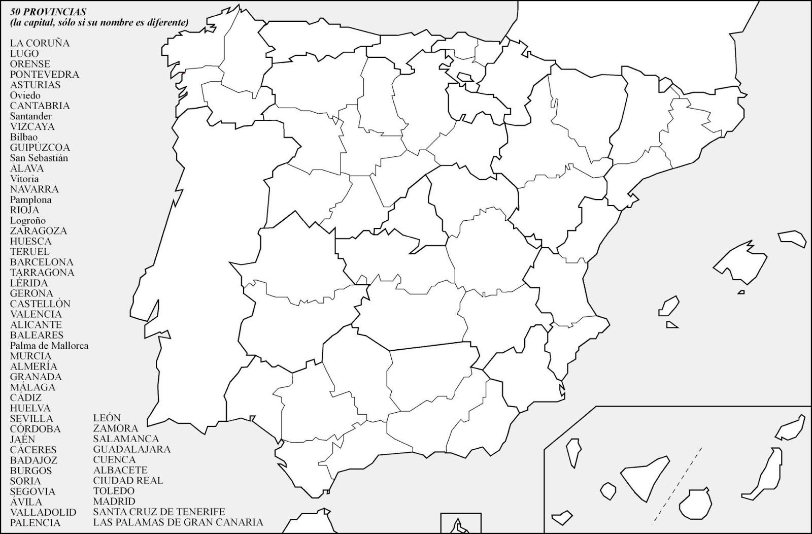 Atlas Geografico Espana Fisica Mudo Con Nombres