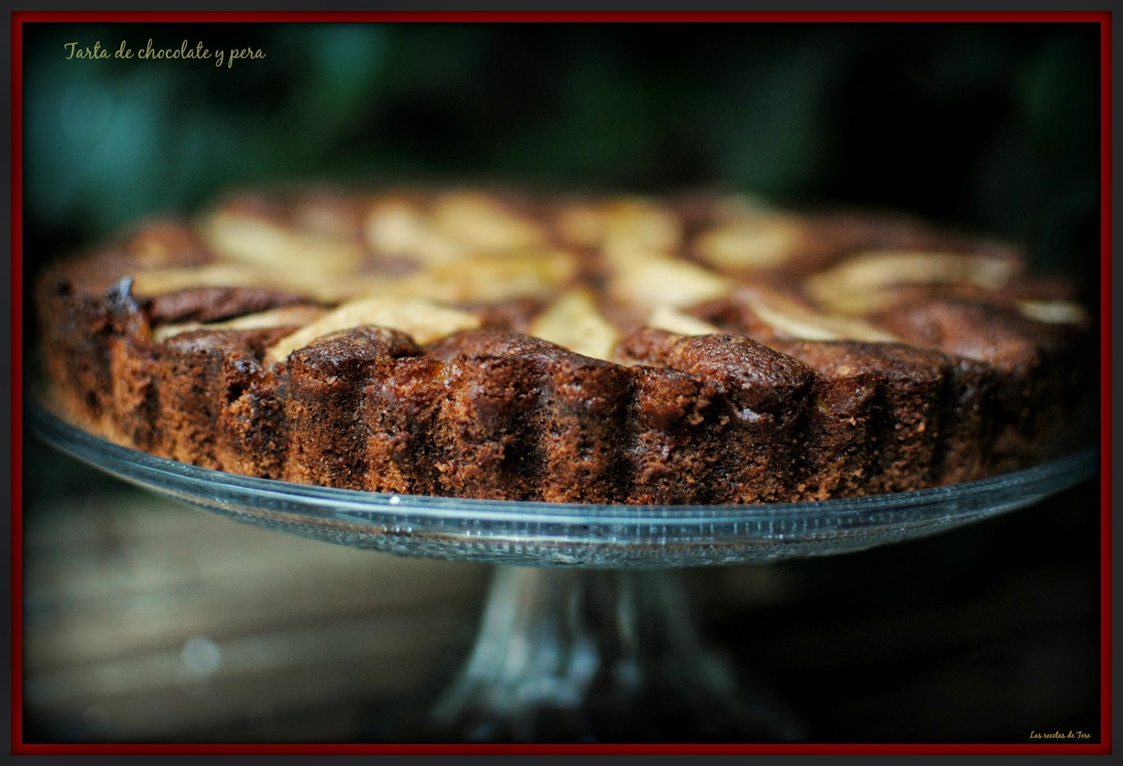 tarta de chocolate y pera tererecetas 01