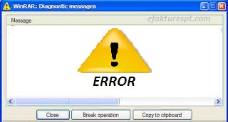 Winrar : Diagnostic Messages