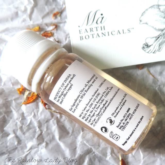 Ma Earth Botanicals Rose Shower Gel Ingredients