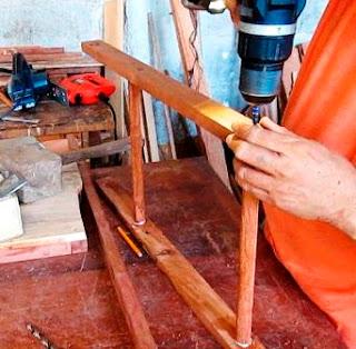 Unión de patas pequeñas de la silla plegable