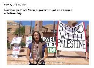 Navajos protest Navajo government's relationship with Israel