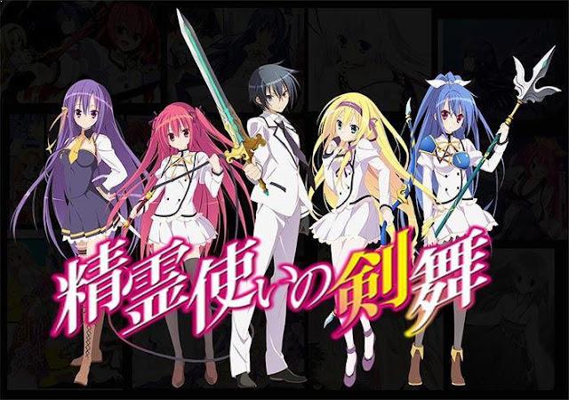 Seirei Tsukai no Blade Dance - Daftar Anime Fantasy School Terbaik