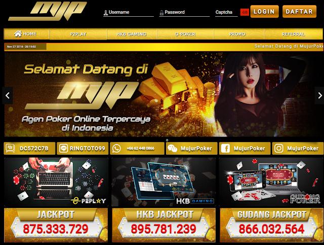 MujurPoker Situs Agen Game Judi Poker,Domino Dan AduQ Online
