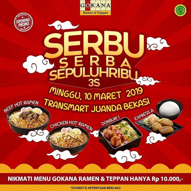 #Gokana - #Promo SERBU Serba Sepulih Ribu di Transmart Juanda Bekasi (10 Maret 2019)
