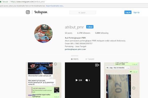 Akun Instagram Yang jual Atribut dan Perlengkapan PMR